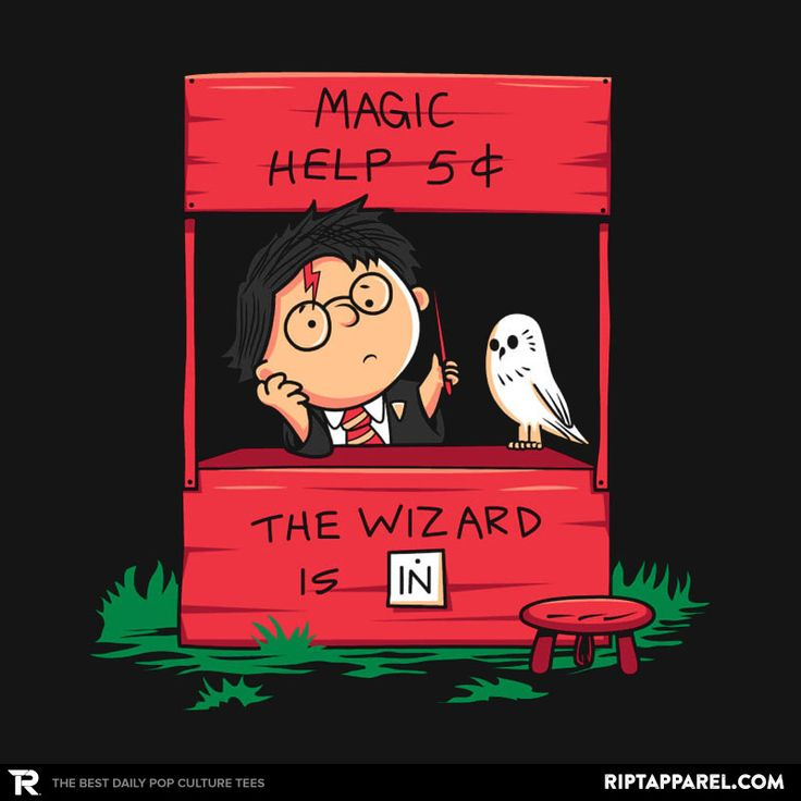 Harry The Wizard T-Shirt - Harry Potter T-Shirt is $11 today at Ript!