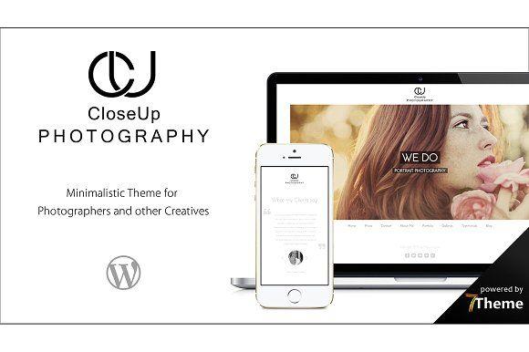 CloseUp - Minimal Photographer Theme by 7Theme on @creativemarket
