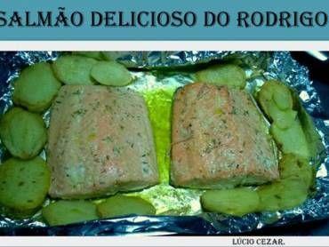 Salmão delicioso do Rodrigo