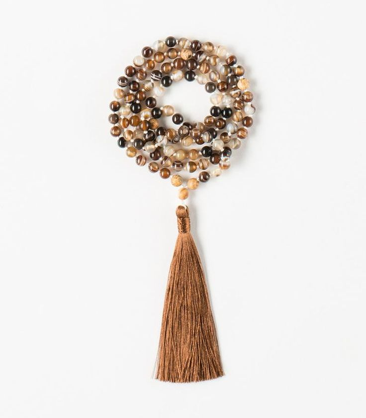 'Happy Lace' Mala - 108 Crazy Agate beads Tibetan Buddhist Mala with Jasper
