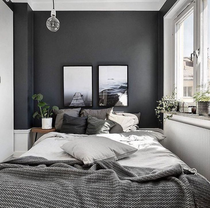 A Grey Wall Can Give Your Bedroom A Dark But Modern Look Give It