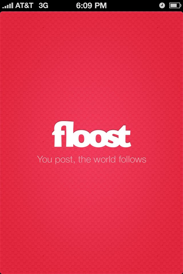 Floost Splash Screen  by Haziq Mir