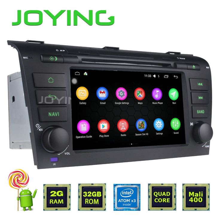 Joying Double 2 Din Android 5.1 Intel SoFIA 3GR Quad Core 2GB RAM+32GB 1024*600 Car Stereo GPS Navigation For Mazda 3 2004~2008