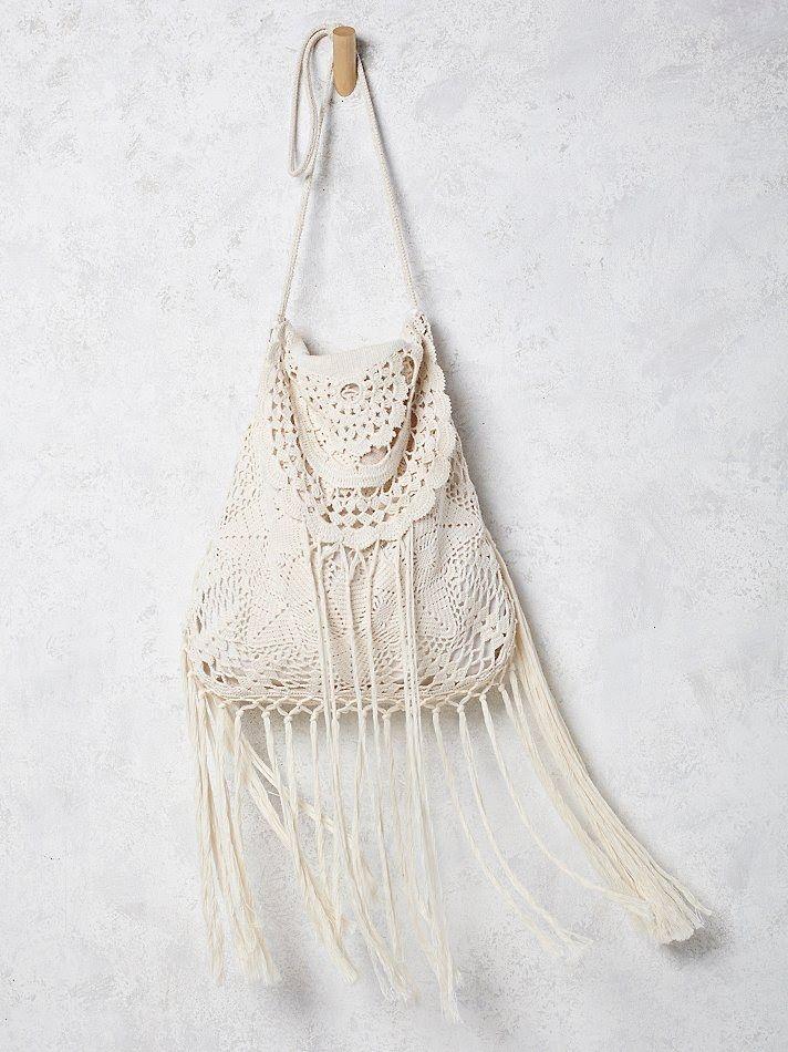 Outstanding Crochet: Free People Desert Crochet Bag.