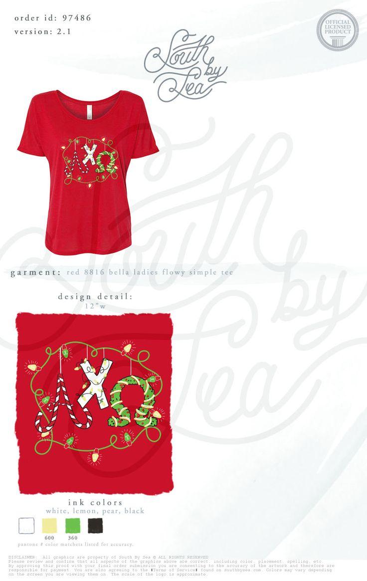 Black light t shirt ideas - Alpha Chi Omega Axo Alpha Chi Christmas Holiday Christmas Lights