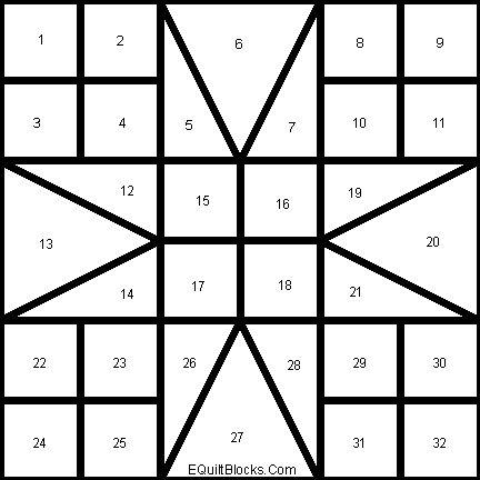 Free Quilt Block Pattern: Eight Hands Around   August/September