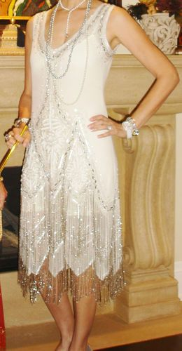 Stunning Great Gatsby Dress 1920 Style Flapper Sequins and Beads Size Small   eBay