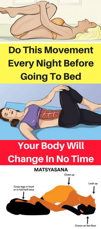 Do This Movement Every Night Before Going To Bed, Your Body Will Change In No Time! – OBSOLO