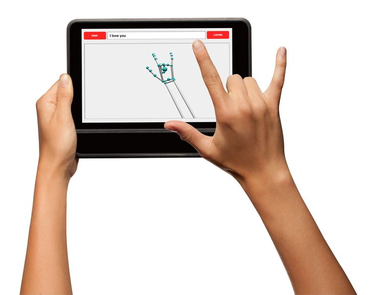 New Tablet Case Recognizes Sign Language and Translates It Into Text |   | Credit: MotionSavvy | From WIRED.com