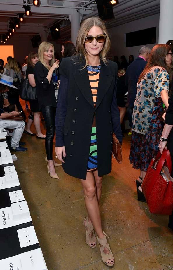 September 06, 2013 Olivia Palermo attends the Peter Som show during Spring 2014 Mercedes-Benz Fashion Week at Milk Studios.