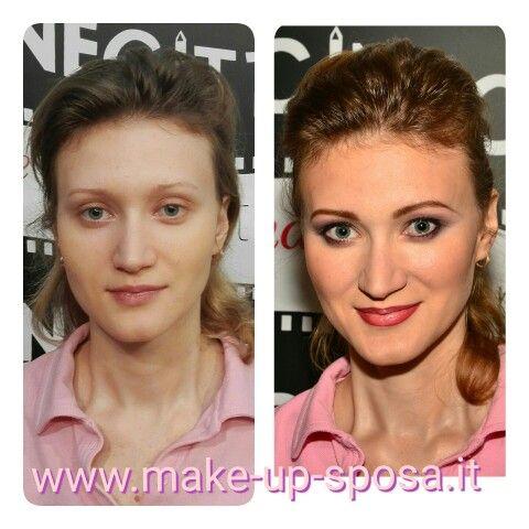 Prima e dopo make-up sposa diego avolio #beforeandaftermakeup