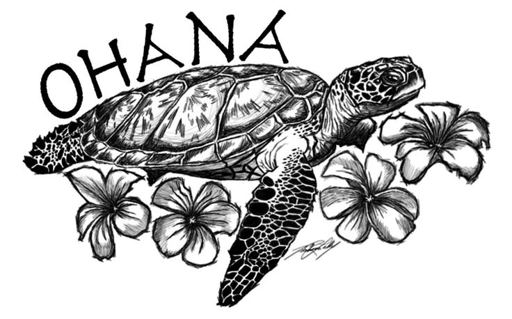 Hawaiian Turtle Tattoo Design photo - 2