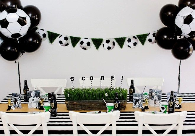 Soccer Party Ideas Adults Soccer Theme Parties Football Theme Party Soccer Party