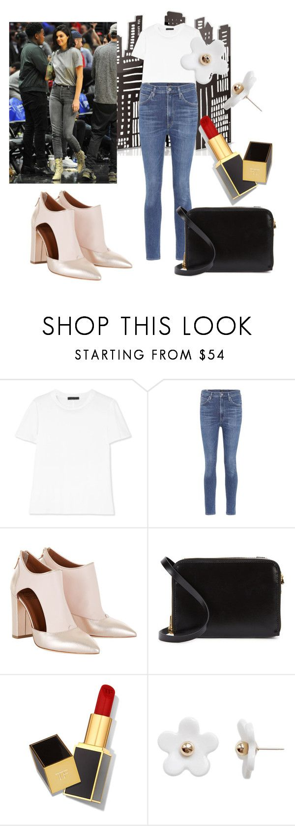 """model day out"" by andhika-n on Polyvore featuring The Row, Citizens of Humanity, Sophie Hulme, Tom Ford and Poporcelain"