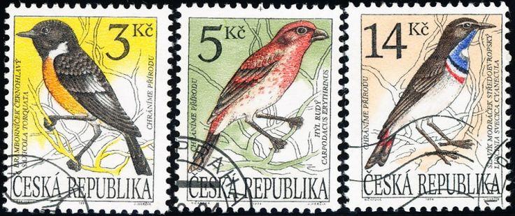 Ochrana přírody - zpěvné ptactvo - razítkovaná - č. 49-51 - Eshop Infofila.cz