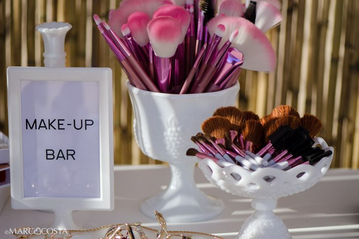 Bohemian Rhapsody Wedding@ Alemagou in Mykonos | De Plan V #deplanv #bohemian #seaside #wedding #makeup #station #make-up #bar #installation #wedding #favours  http://www.deplanv.com