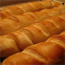 French Baguettes in the bread machine! All you need is: 1 cup water 2 1/2 cups bread flour 1 tablespoon white sugar 1 teaspoon salt 1 1/2 teaspoons bread machine yeast 1 egg yolk 1 tablespoon water