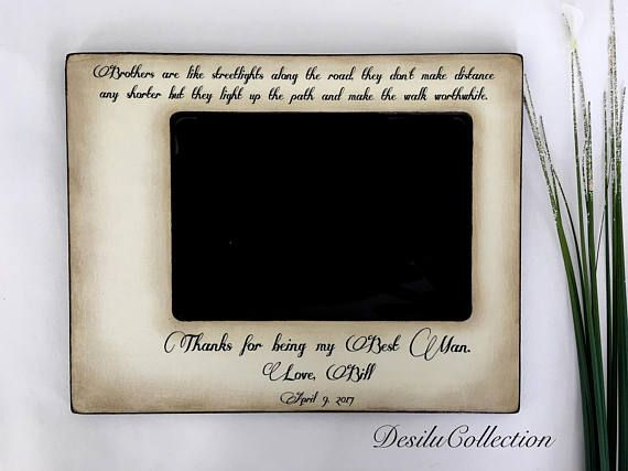 Wedding Gift For Brother Best Man : 17 Best ideas about Brother Wedding Gifts on Pinterest Wedding gifts ...