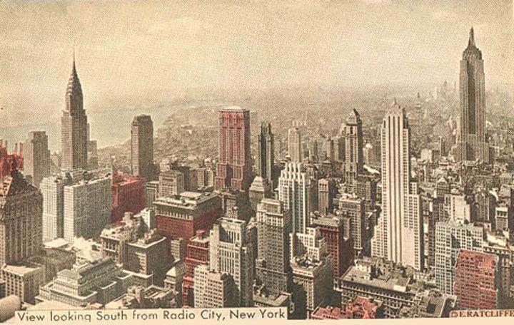 Vintage 1919, NYC skyline from Radio City, www.RevWill.com