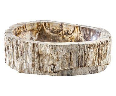 Lavabo in legno pietrificato Stone naturale, 15x40 cm