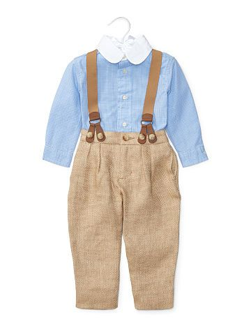Shirt, Pant & Braces Set - Baby Boy Outfits & Gift Sets - RalphLauren.com