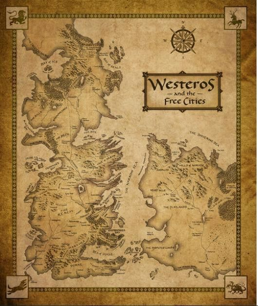 -Keep track of the locations of all the Game of Thrones characters as you enjoy the show! -Varys' trade secret expedited Narrow Sea path not depicted. Dimensions: 50x75cm/19.69x29.53in