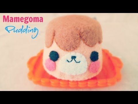 How To Make A Mamegoma Pudding Plushie Tutorial - YouTube