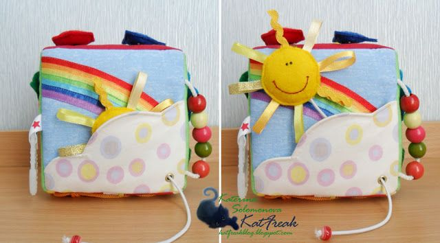 Fabric activity cube (blog in Russian, but can go by the pictures)