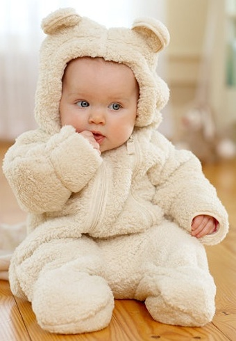 @K Little We must find one of these! (the bear suit not the baby!) LOVE this!