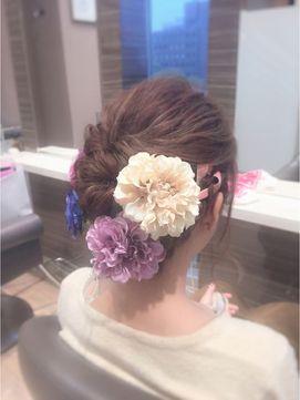 和装に似合う♡結婚式お呼ばれのヘアスタイル♪ロングヘアの列席者さんの髪型参考一覧♡