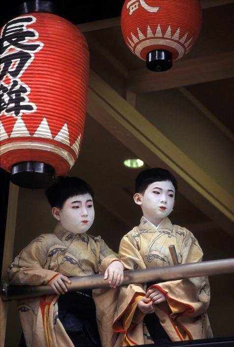 "taishou-kun: ""Kubota Hiroji 久保田 博二 Two young participants at the Gion Festival - Kyoto, Japan 2001 """