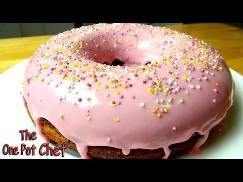 Giant Donut Cake – Recipe | Cooking Recipe Video In Dessert Foods| My Recipe Picks | Delicious food, easy to cook recipes. Make breakfast, lunch and dinner easy!