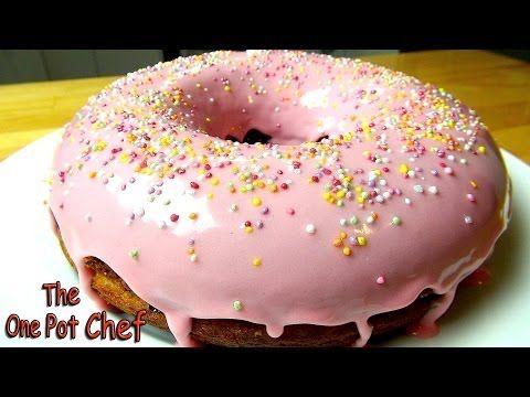 ▶ Giant Donut Cake - RECIPE - YouTube