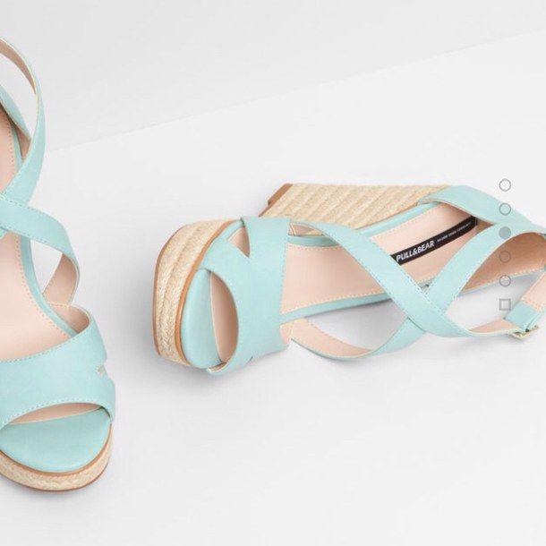 amazing, fashion, heels, high shoes, moda, scarpe, tiffany, wedges, verde acqua, verde tiffany, zeppe