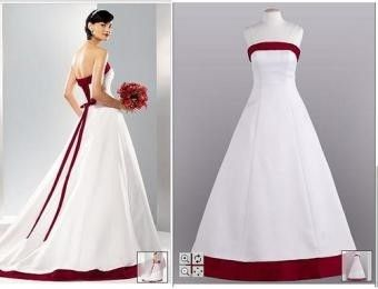 David's Bridal Apple Red And White Corset Dress Wedding Dress. David's Bridal Apple Red And White Corset Dress Wedding Dress on Tradesy Weddings (formerly Recycled Bride), the world's largest wedding marketplace. Price $350.00...Could You Get it For Less? Click Now to Find Out!