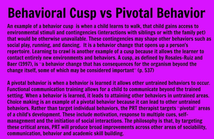 Behavioral Cusp vs Pivotal Response bcba Pinterest Aba - behavior analysis samples