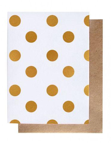 Polka Dot – Gold Foil Greeting Card – THAT LITTLE SHOP