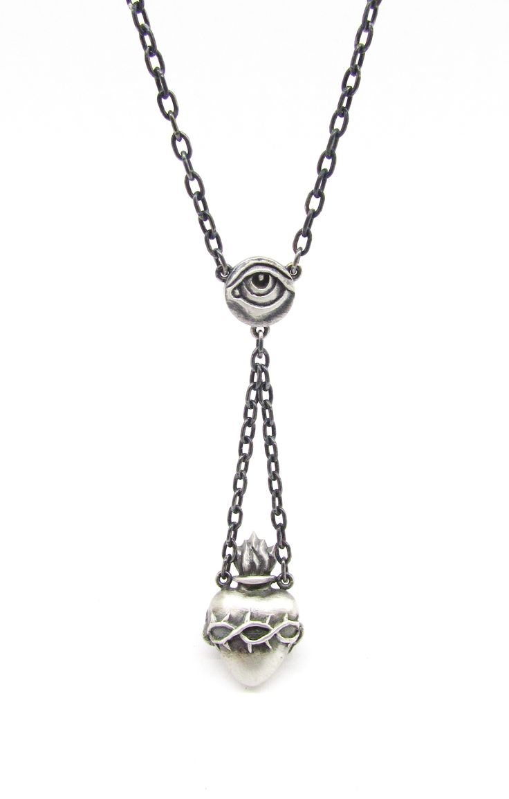 New 'JESUS' sacred heart necklace from Sirkel Jewellery in Sterling silver.