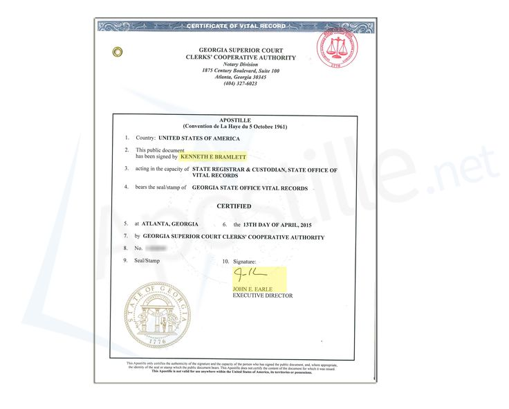 Best State Of Georgia Sample Apostille Images On