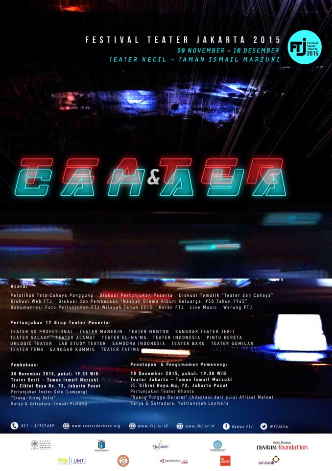 #poster #designGraphic #teaterdancahaya #FTJ2015 #dindrART