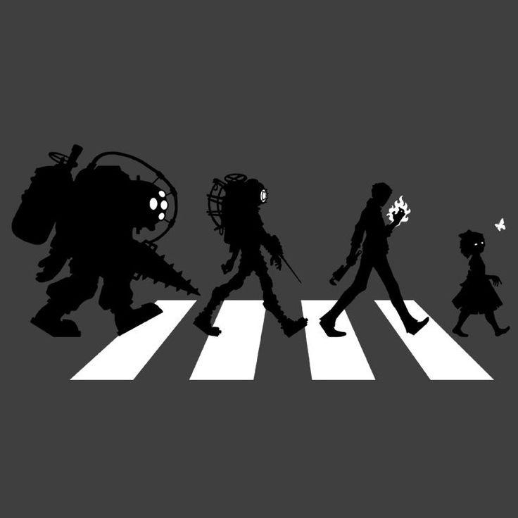 Rapture Road T-Shirt $12.99 Bioshock tee at Pop Up Tee!