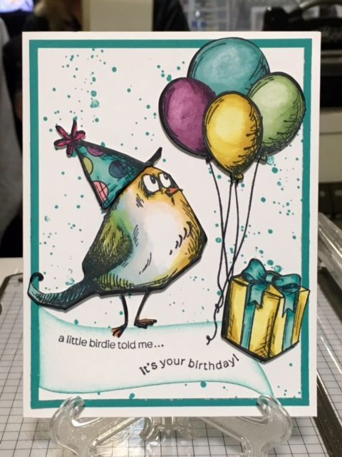 Crazy Bird Birthday by harleygirl50 - Cards and Paper Crafts at Splitcoaststampers