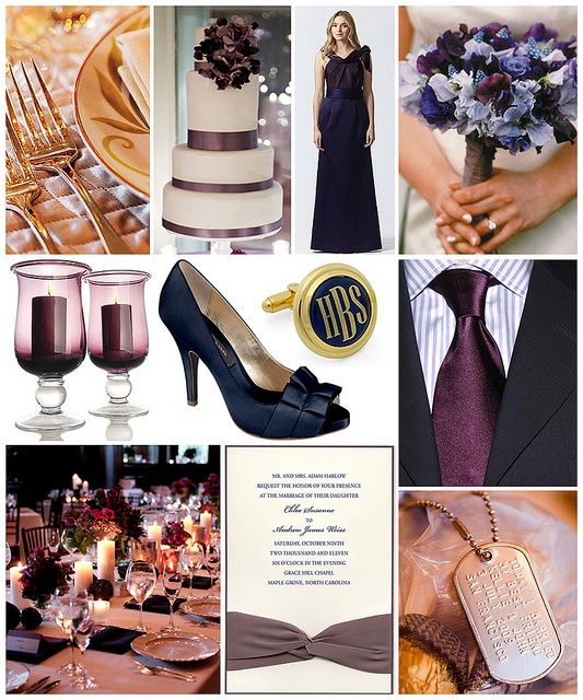Plum and Navy Marine Wedding by finestationery, via Flickr