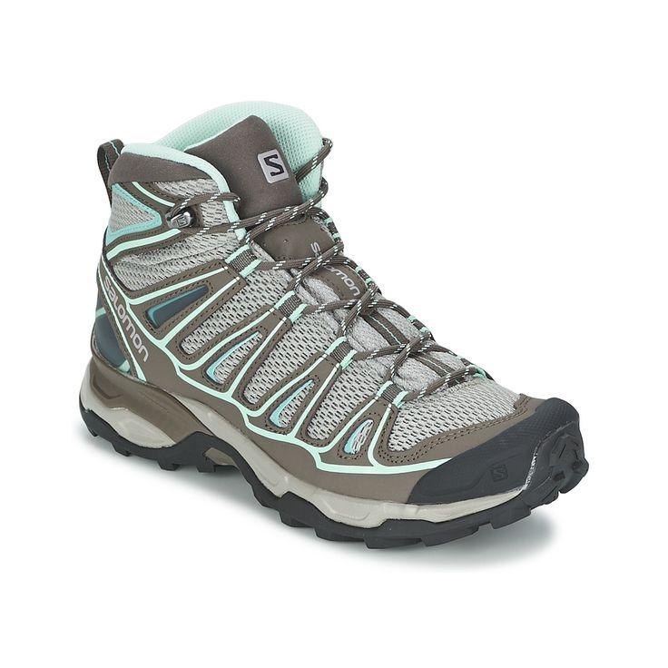 Chaussures de randonnee Salomon X ULTRA MID AERO W Gris / Bleu prix promo Chaussures de Randonnée Spartoo 129.00 €