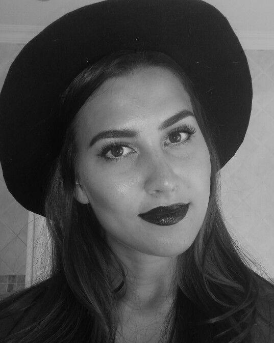 Black lipstick and dark make up. Cloudy Mood by www.feliciadebeer.co.za