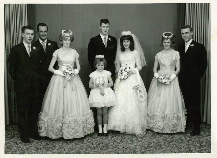 Les on her wedding day