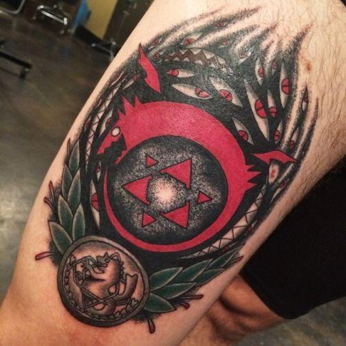 fullmetal alchemist tattoo made by brynn sladky lady tattooer at blacklist tattoo portland. Black Bedroom Furniture Sets. Home Design Ideas
