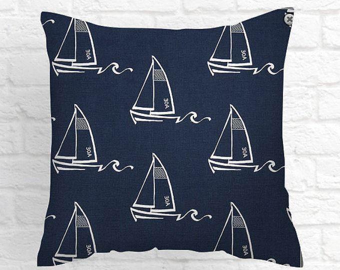 Almohada azul cubre almohada azul marino cubre cojines decorativos tamaño opción acento almohadas cojines decorativos almohadas hogar