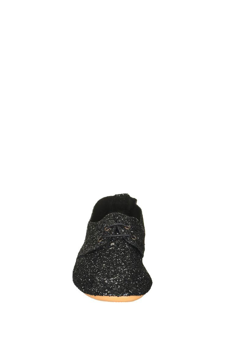 Derbies paillettes noires Flashy Anniel sur MonShowroom.com