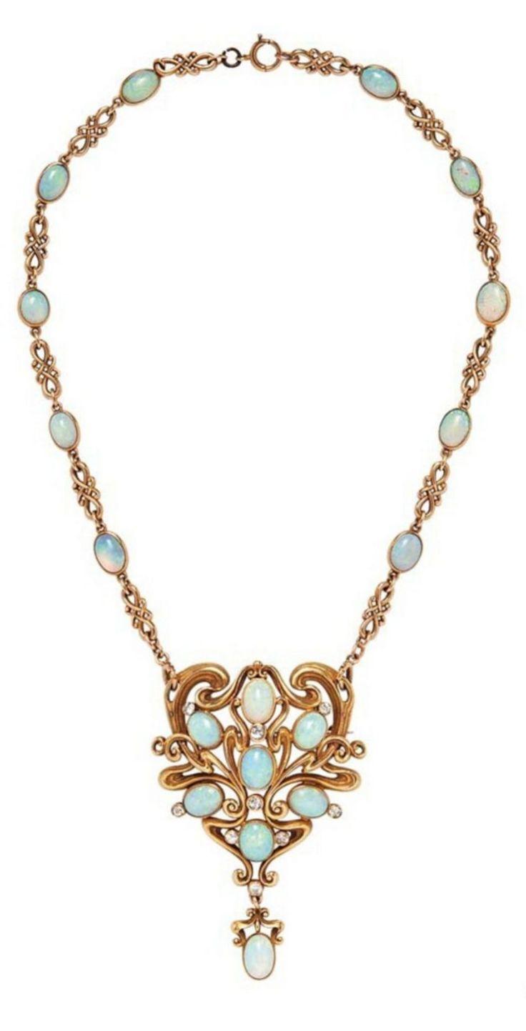 Art Nouveau Jewelry Necklace 1717www.wearethebikerstore.com   Leather, Skull, Bikers, Fashion, Men, Women, Home Decor, Jewelry, Acccessory.